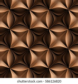 3d seamless tile pattern brown leather background.