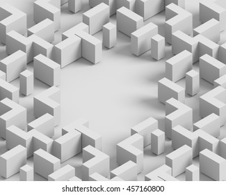 3d shaded abstract shapes. Seamless texture.