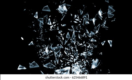 3d Shattered glass background