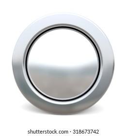3d shiny button - white version