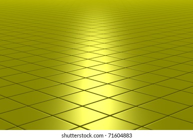 3D shiny tiled floor background