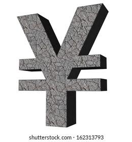 3d sign collection - yen