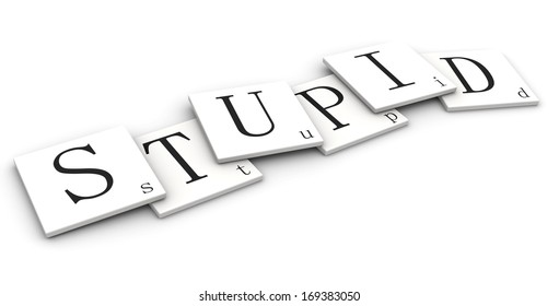 3D sign word: Stupid