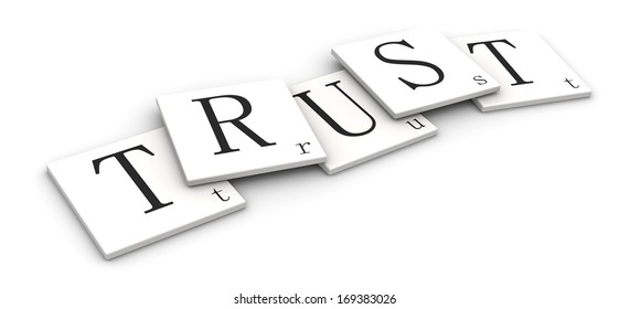 3D sign word: Trust
