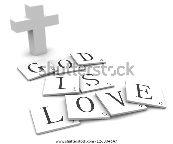 3d Signs Word God Love Stock Illustration 126804647