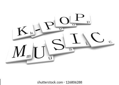 3D Signs word: k-pop Music