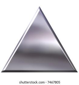 3D Silver Triangle