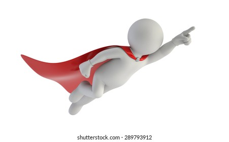 3d small people - Super man