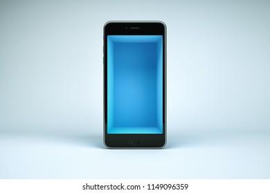 3d smart phone illustration