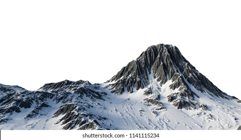 3D Snow Mountain Illustration of the Year,3D Mountain