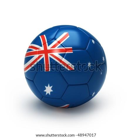 e77c1123bc7 3 D Soccer Ball Australia Team Flag Stock Illustration 48947017 ...