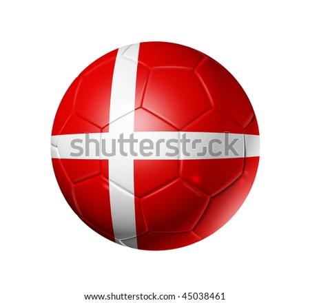 da3ab0fe03a 3 D Soccer Ball Denmark Team Flag Stock Illustration - Royalty Free ...
