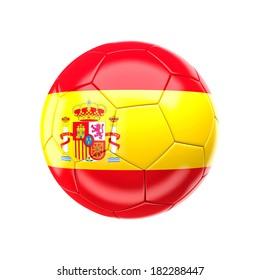 3d soccer ball with spain flag
