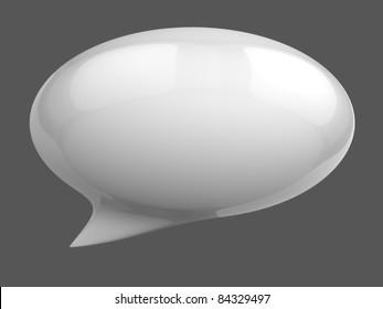 3d speech bubble