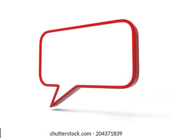 A 3d Speech Bubble Isolated on White Background