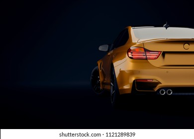 3d sport car, studio render