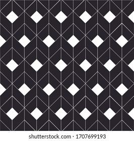3d Square Box Pattern in Black