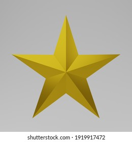3d star photo in gold color