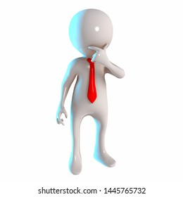 3D Stickman with thinking pose