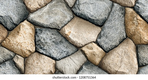 3d Stone wall elevation for background