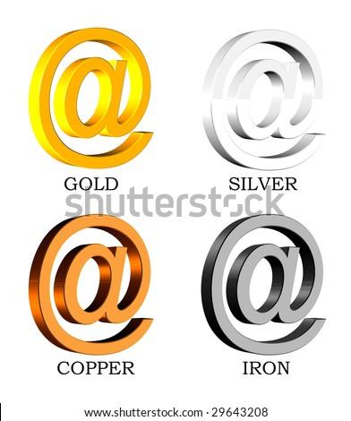 Royalty Free Stock Illustration Of 3 D Symbols Gold Silvercopper
