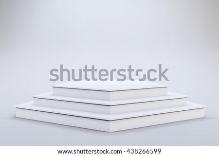 3 d template blank empty podium stage stock illustration 438266599