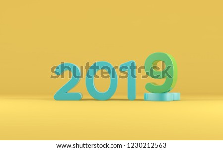 Royalty Free Stock Illustration Of 3 D Text Background New Year 2019