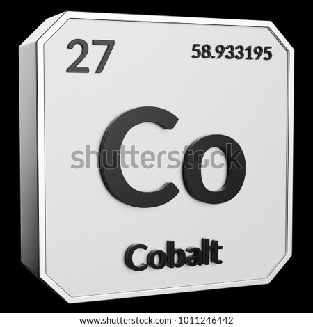 Royalty Free Stock Illustration Of 3 D Text Chemical Element Cobalt