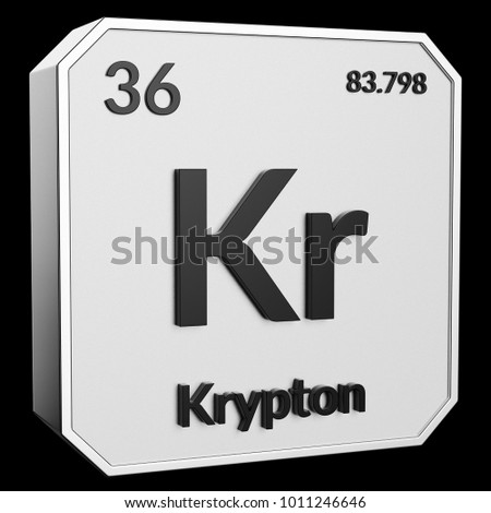 3 D Text Chemical Element Krypton Atomic Stock Illustration