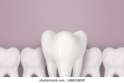 3d tooth illustration dental oral care dentist molar root canal treatment background
