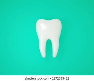 3D tooth 3D rendering White healthy tooth
