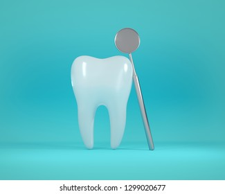 3D tooth White healthy tooth