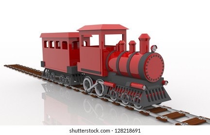 3d train red