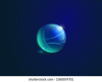 a 3d transparent basketball