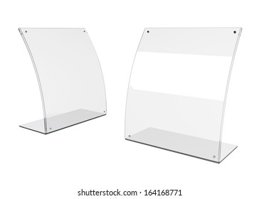 3d  transparent PVC advertising billboard stand in isolated background with work paths, clipping paths included