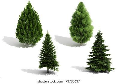 3d tree pack - render on white background