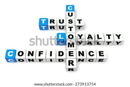 3 D Trust Customer Loyalty Stock Illustration Royalty Free Stock