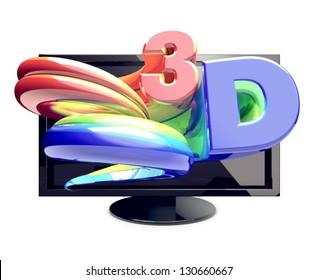 3-D TV  Most modern 3D television sets