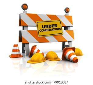 3d under construction illustration