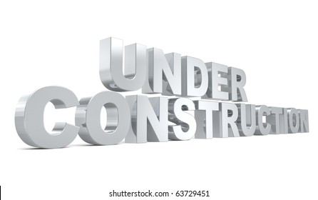 3d under construction logo from my metal collection