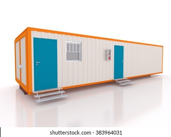 3D view of a portable container exterior