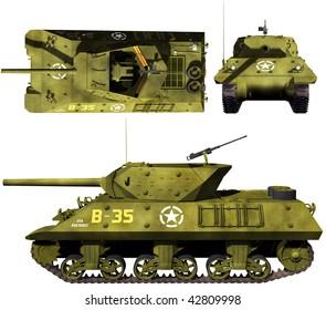 3D views of m10 tank destroyer
