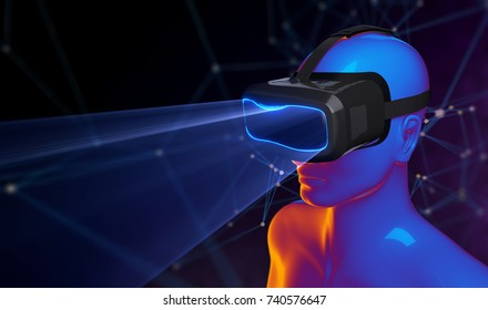 3D Virtual Reality Glasses. 3D illustration