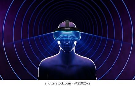 3D Virtual Reality Glasses. 3D illustration