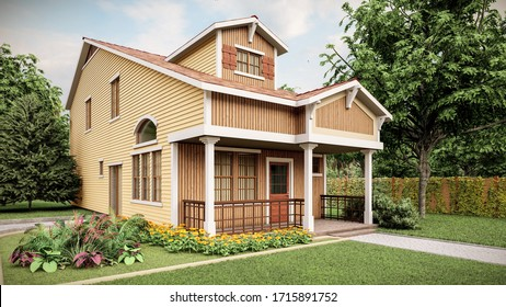 3d visualisation of a house