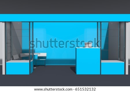 Exhibition Stand Reception Desk : D visualization exhibition stand showcases workstations stock