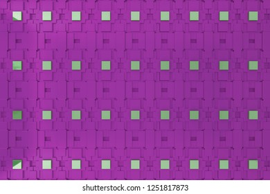 3d wall, 3d rending purple graphic wall for background or backdrop