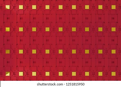 3d wall, 3d rending red graphic wall for background or backdrop