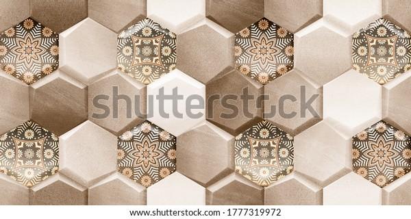 3D wall tiles design