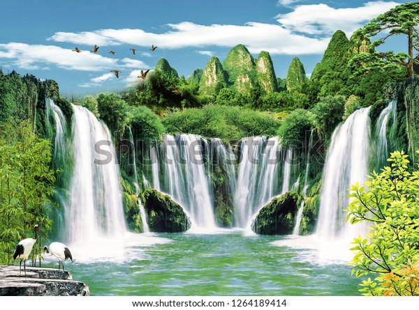 3d wallpaper background design natural 600w 1264189414